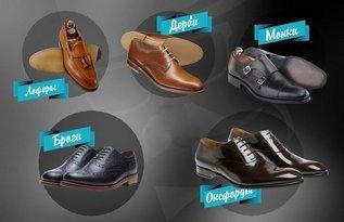 Пять видов мужских ботинок